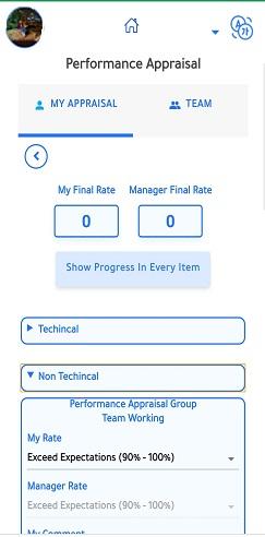 Employee's performance Evaluation